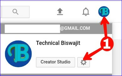 Go to Youtube Channel Setting Option