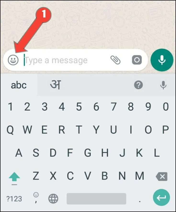 click emoji icon