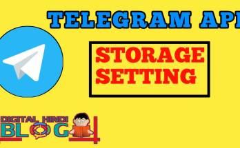 Telegram का Storage Option को SD Card में Save कैसे करे 1