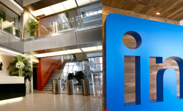 linkedin office and logo