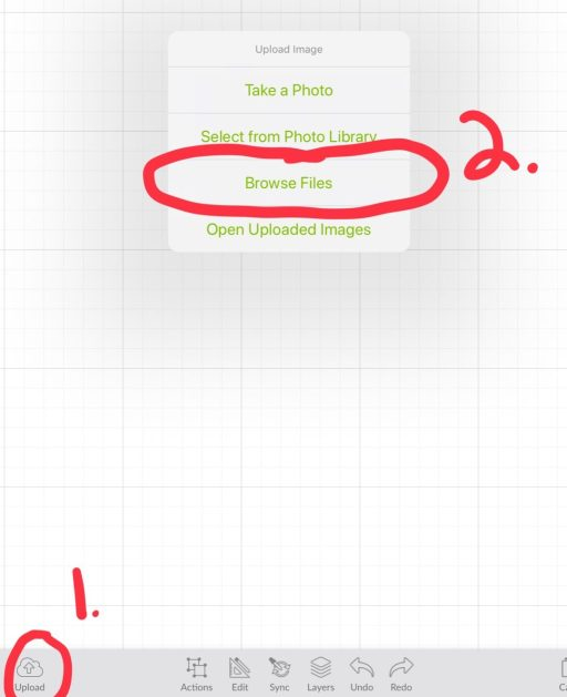 Cricut upload and browse Files How to upload a zip file to cricut on your ipad