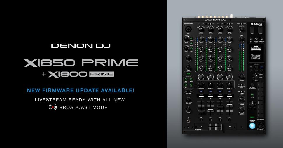 Denon DJ: X1800 & X1850 configurazione per broadcast 1