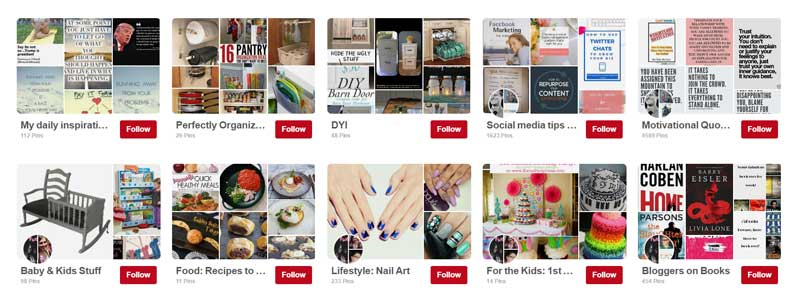 Image result for pinterest board