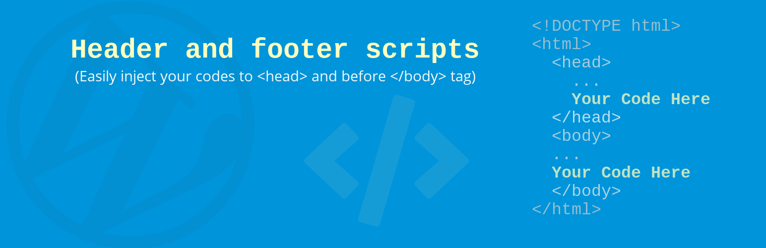 Header and Footer Scripts