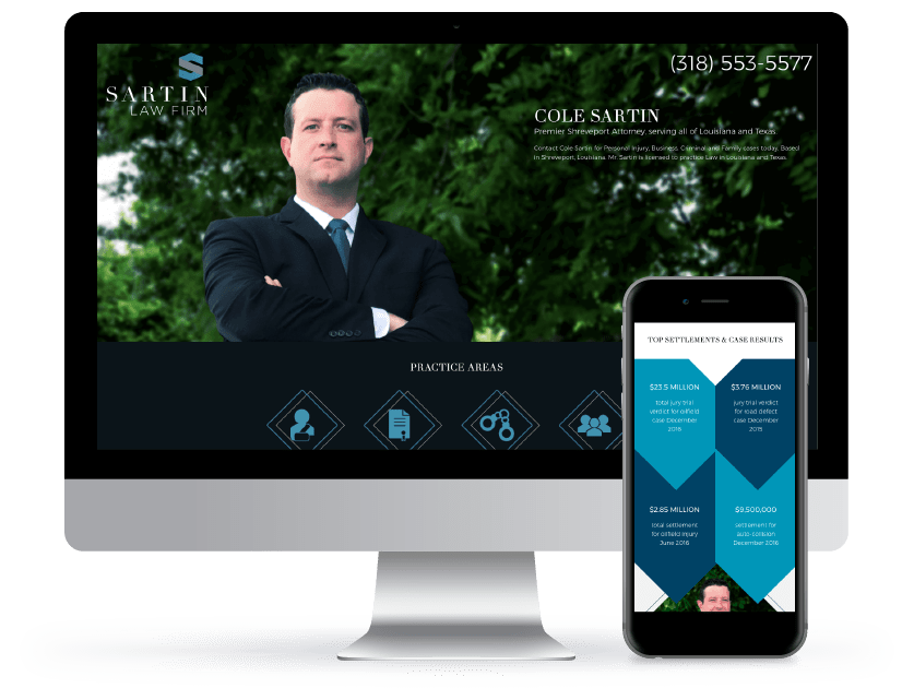 Law Firm Web Design Example 1 Sartin