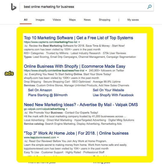 best online marketing for business bing search ads