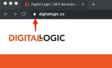dental marketing and having a secure website showing padlock