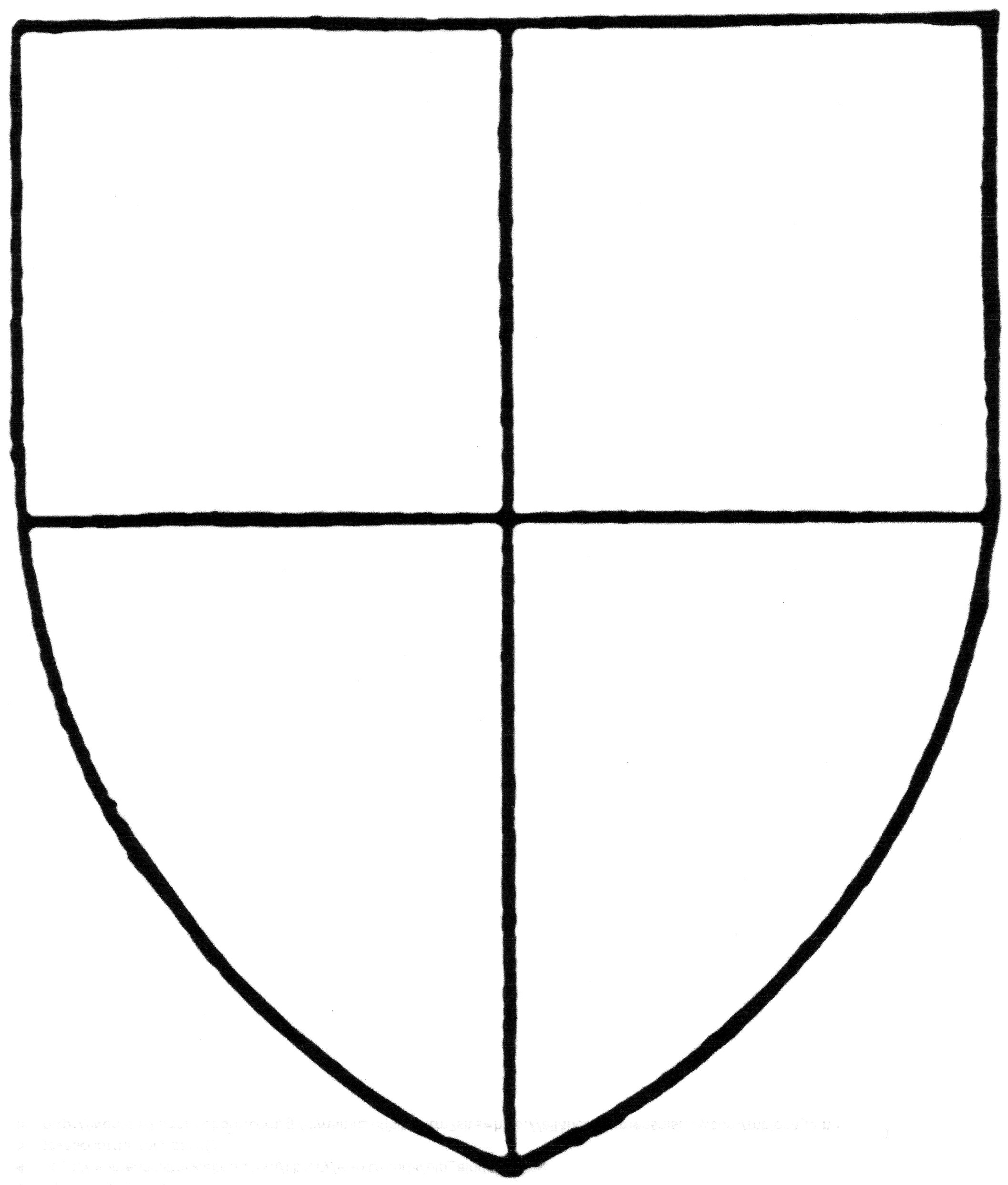 Coat Of Arms Template With Symbols
