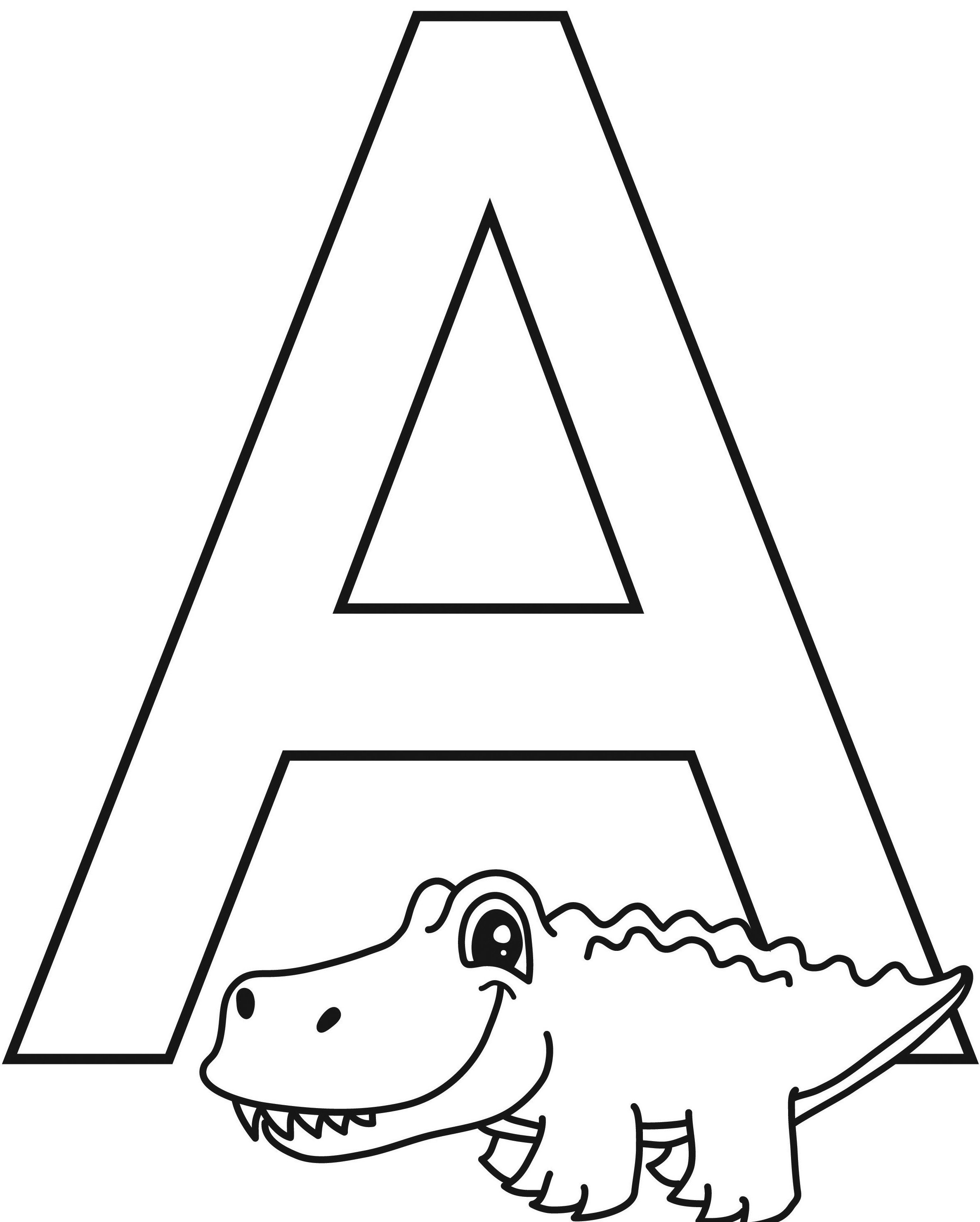 Printable Letter A Worksheets For Kindergarten