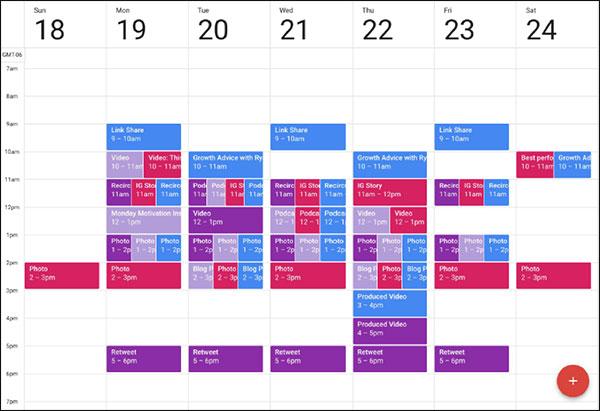 a social media calendar for an improved strategy