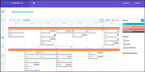 Socialmonials Social Media Marketing tool