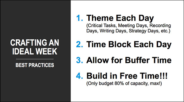 rules to plan out your ideal week