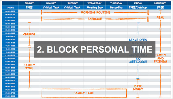 block personal time