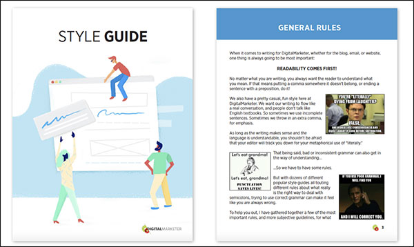 DigitalMarketer's Style Guide General Rules