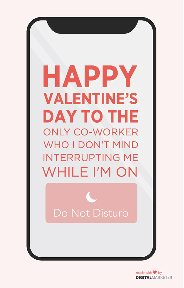 HVD to the only co-worker who I don't mind interrupting me while I'm on Do Not Disturb