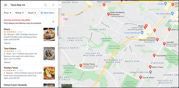 seo google maps results