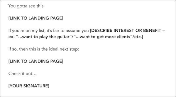 ejemplo de campaña de correo electrónico