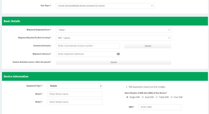 get NOC for import mobile after login procedure