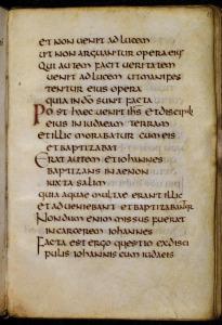 St. Cuthbert's Gospel f.11