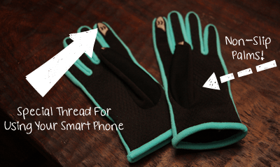 Smart touch isotoner gloves