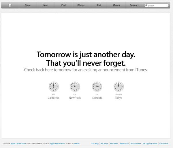 Apple Website Myster - November 16