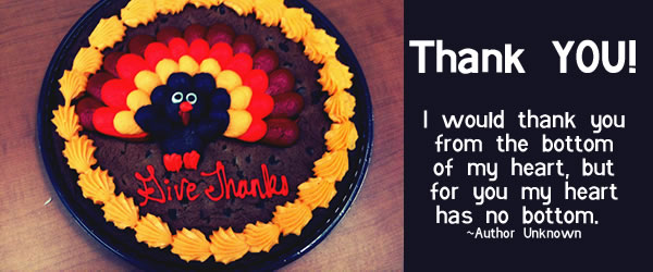thank you and happy thanksgiving