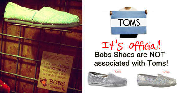 toms shoes not associated with bobs