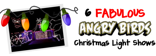 6 Angry Birds Christmas Lights Show