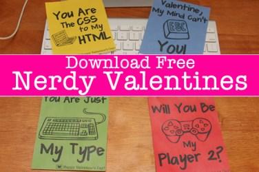 free nerdy valentines