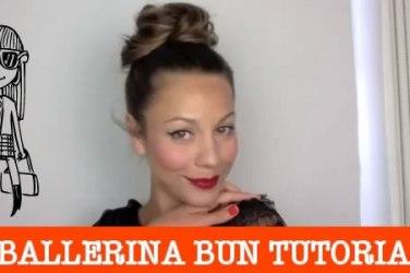 ballerina bun hair tutorial
