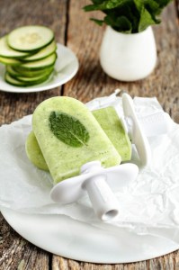 cucumber mint margarita ice pop