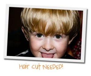 toddler hair cut needed