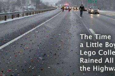 legos on highway