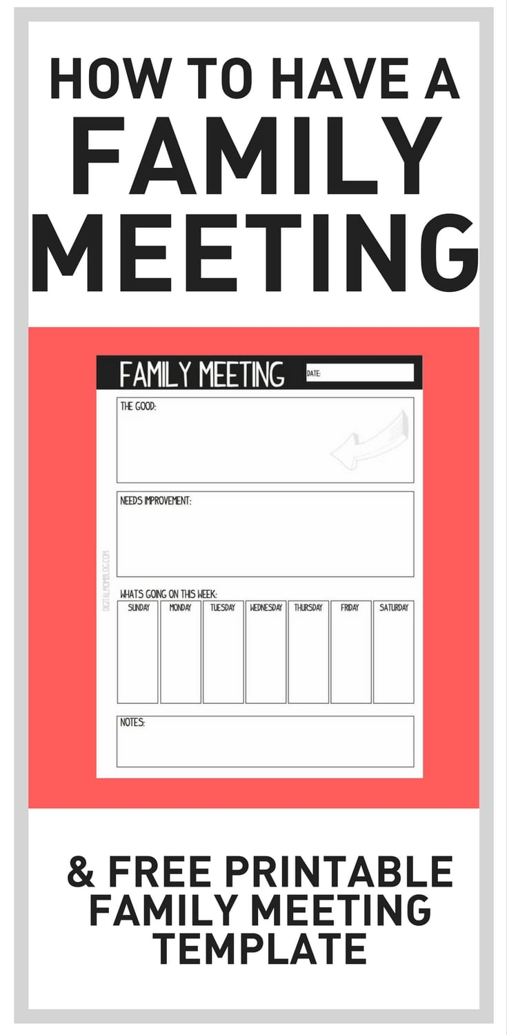 how to have a family meeting