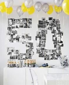 birthday-photo-wall