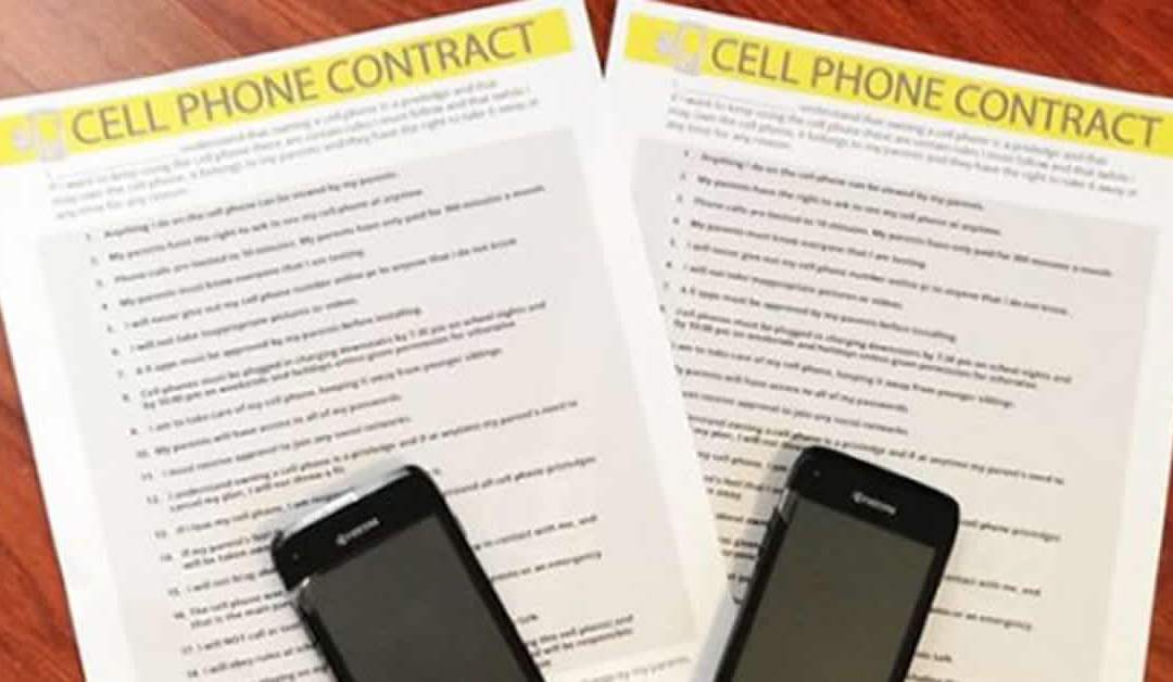 Free Kid Cell Phone Contract Template