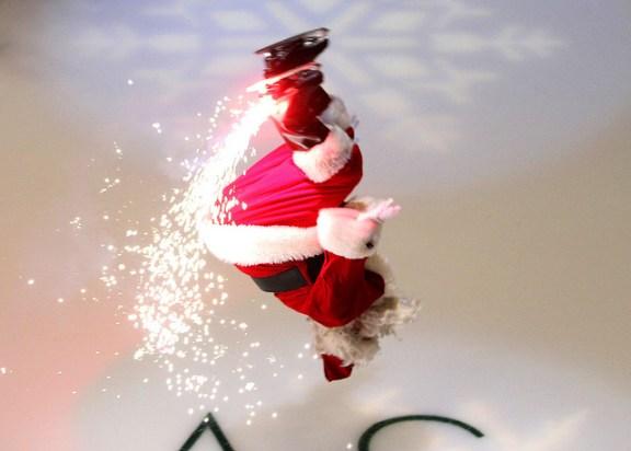 santa on ice