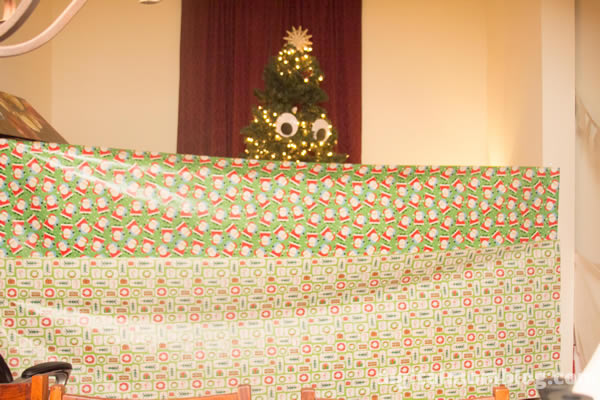 wrap christmas room