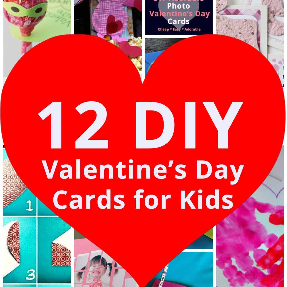 12+ Adorable DIY Valentines Day Cards for Kids