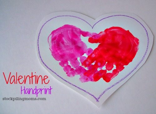 valentine handprint card