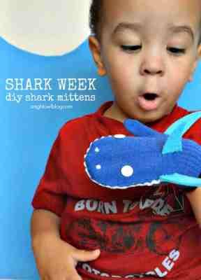 Shark Week Mittens