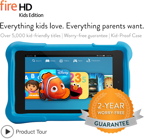 amazon kindle fire hd for kids