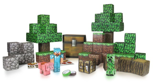 minecraft party paper landscape