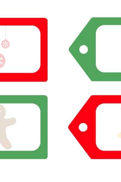 Free & Adorable – Download & Personalize These Printable Christmas Gift Tags