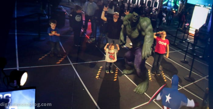 Augmented reality at The Marvel Experience