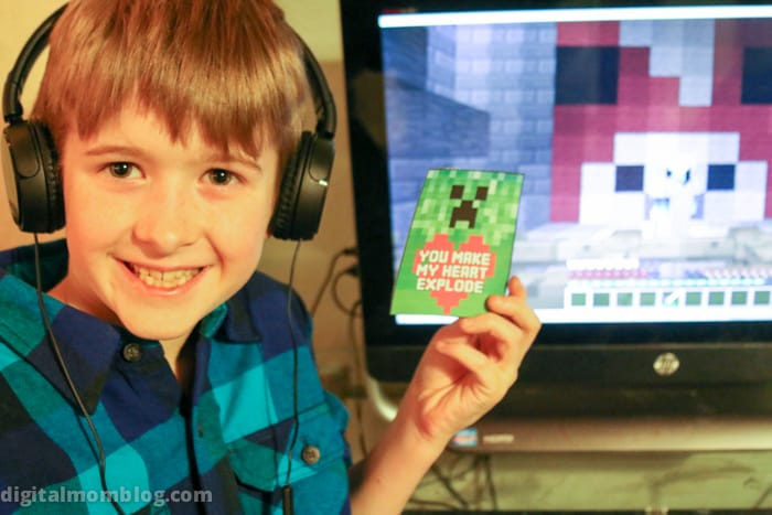 Minecraft Valentines for Kids