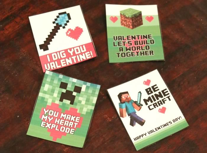 Free Minecraft Valentine's Day Cards