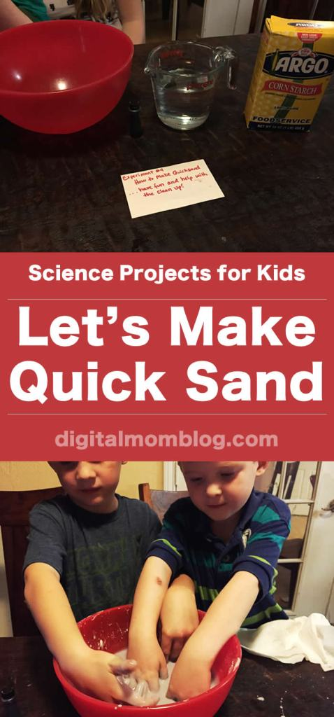 Science Projects for Kids - Quick Sand