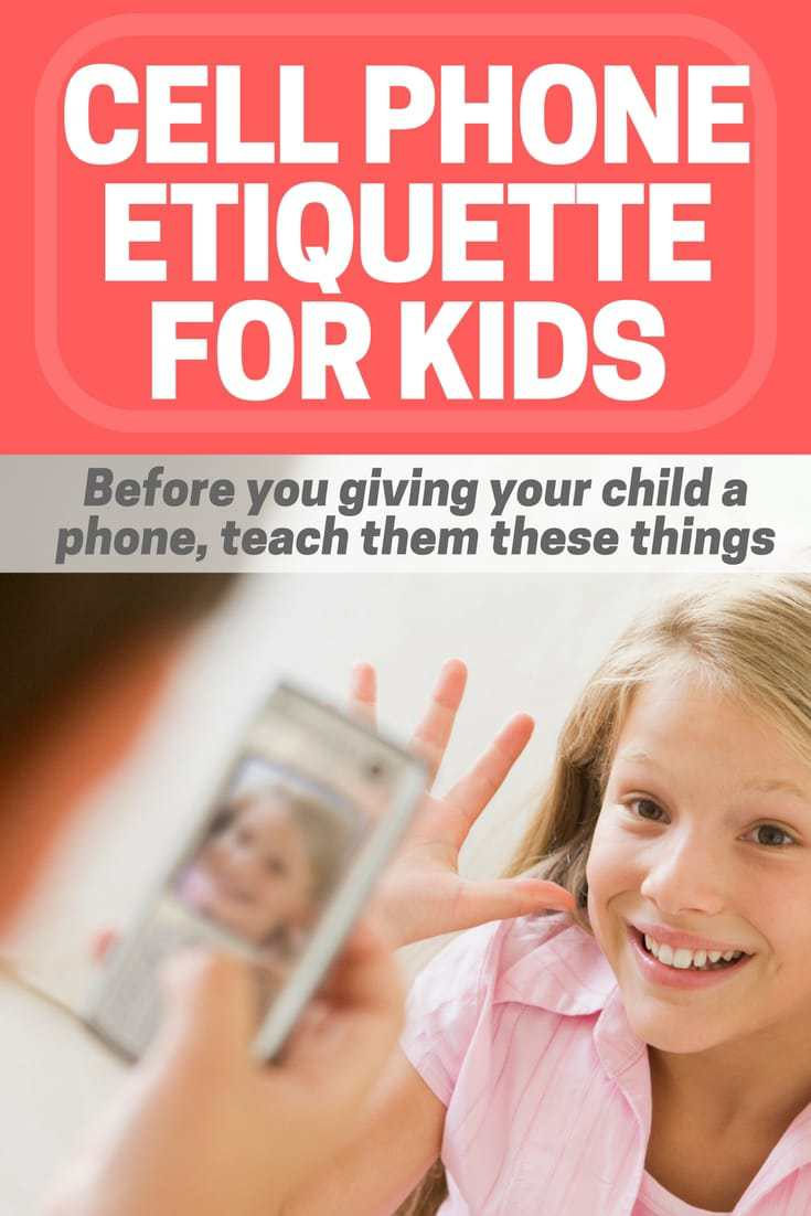 cell phone etiquette for kids
