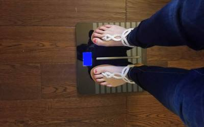 A Scale to Weigh Baby & Yourself